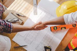 Grundrisse, Unterlagen und Werkzeug
