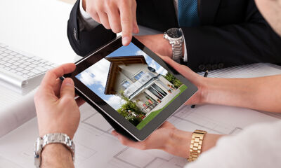 Haus auf Tablet