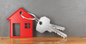 Schlüssel mit Haus als Anhänger