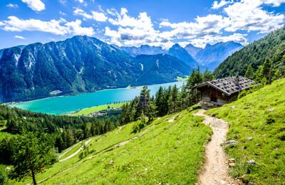 Blick auf den Achensee in Tirol, Österreich
