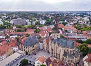 Luftansicht auf Osnabrück