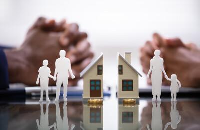 Geteiltes Haus und geteilte Familie