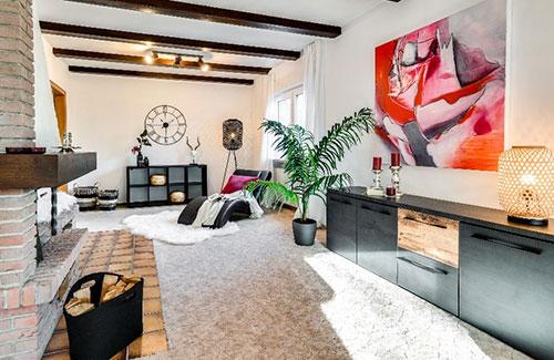 Home Staging-Beispiel Wohnzimmer