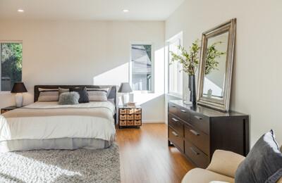 Hergerichtetes Schlafzimmer