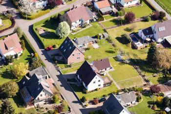 Luftansicht auf Wohnsiedlung