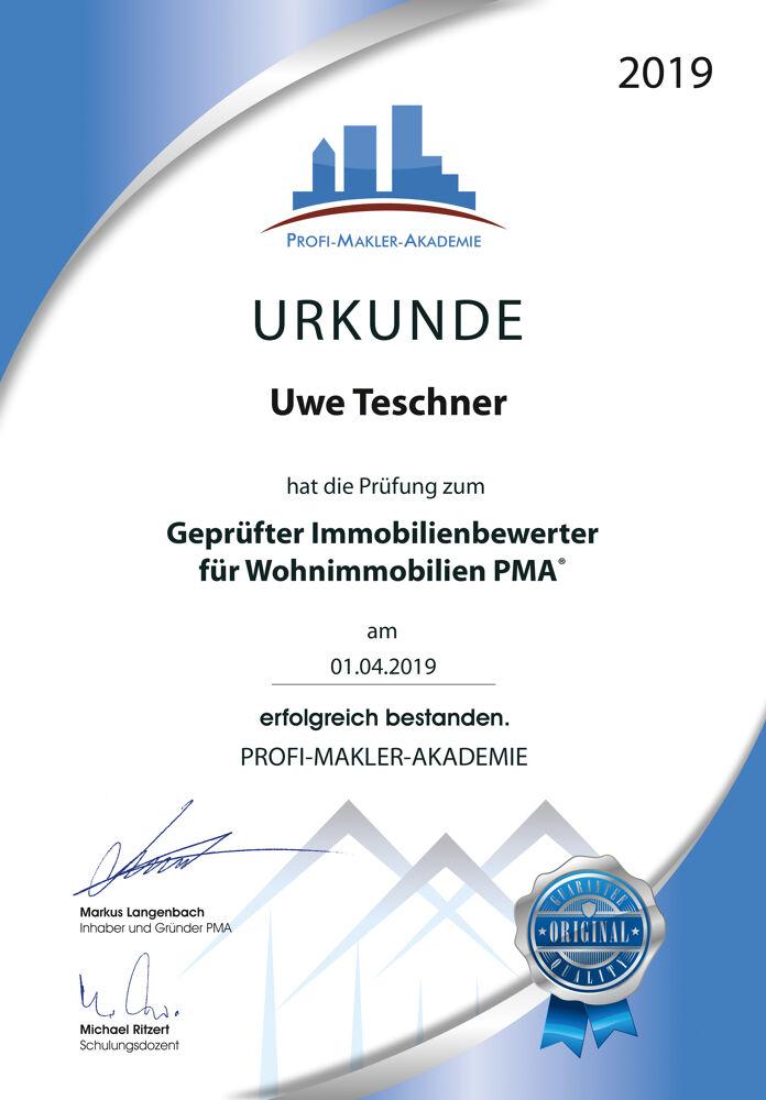 Urkunde Fachtraining Profi Makler Akademie