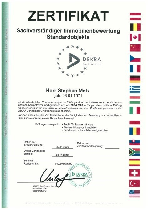 Zertifikat Metz