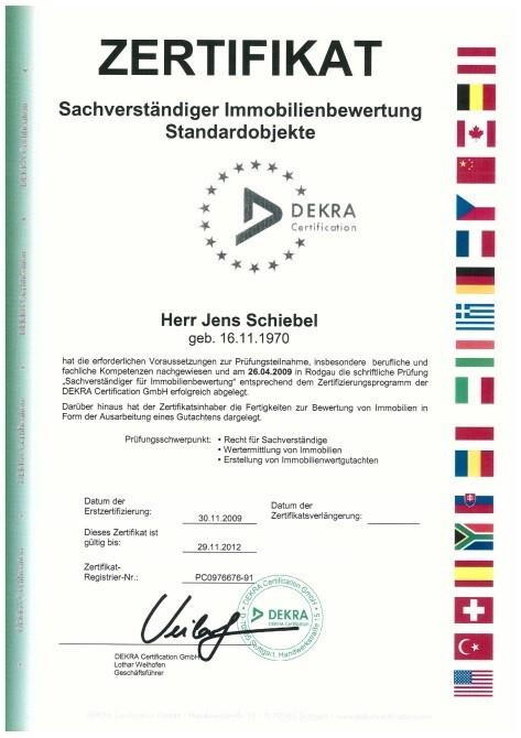Zertifikat Schiebel