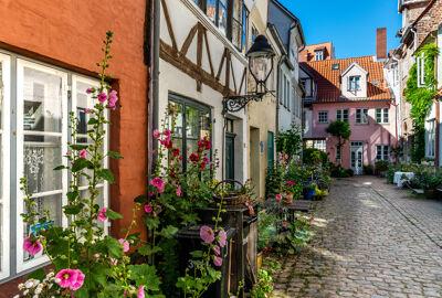 Gasse in Lübeck