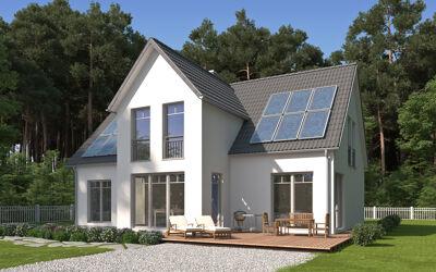 Modernes Einfamilienhaus weiß