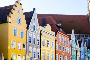 Hausfassaden Landshut