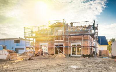 Haus in der Bauphase