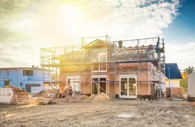 Haus im Bauzustand