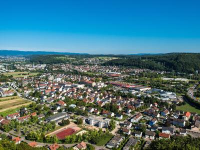 Luftansicht Lörrach Stadt
