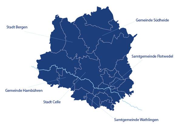 Grafische Darstellung des Landkreises Celle