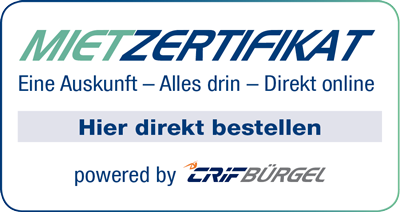 Mieterzertifikat Logo