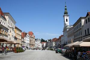 Blick auf die Altstadt von Steyr
