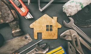 Haus und Werkzeuge