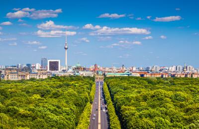 Blick auf den Berliner Tiergarten