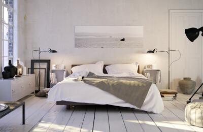 Dekoriertes Schlafzimmer