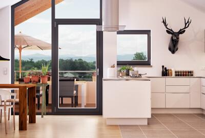 Openplan Küche
