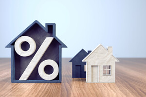 Haus mit Prozentzeichen
