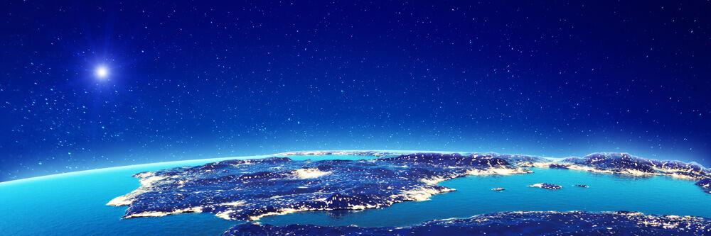 Spanien bei Nacht