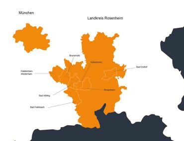 Karte Landkreis Rosenheim