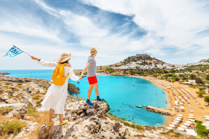 Paar in Griechenland