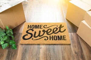 Fußmatte mit Aufschrift Home Sweet Home