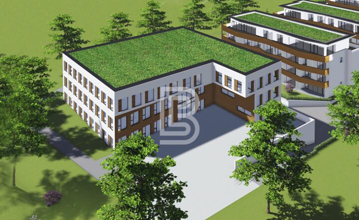 Projektiertes Bürogebäude im Dreiländereck