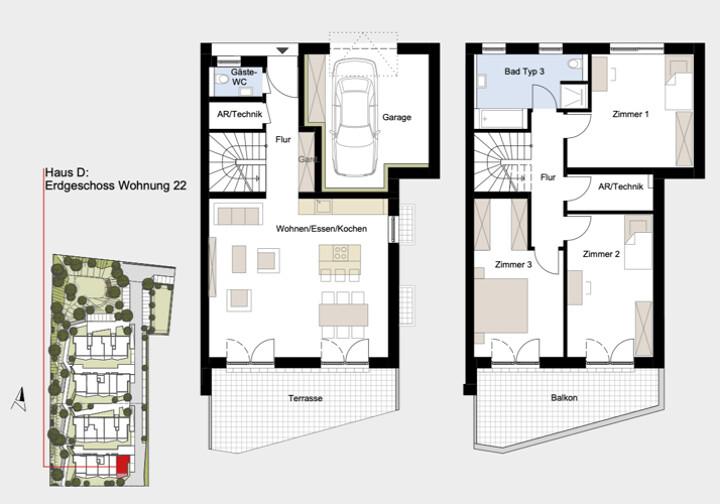 Attraktive Maisonette-Wohnung zum Erstbezug