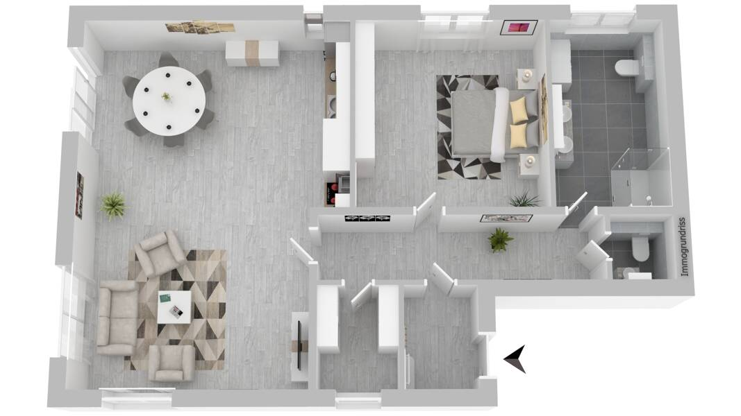 Wohnung 1 EG links mit großer Erdterrasse