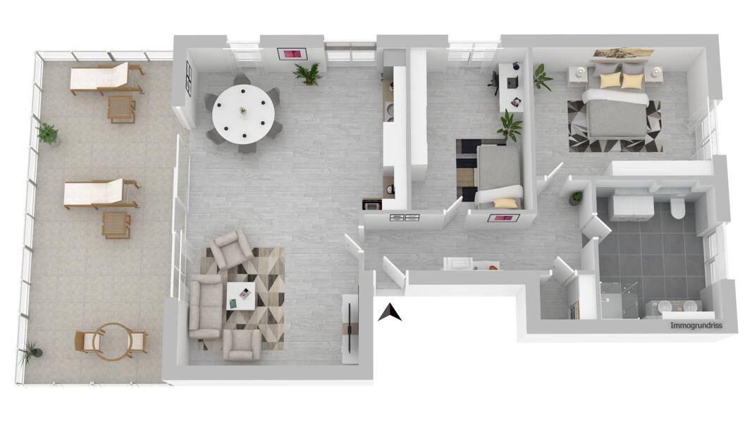 Wohnung 3 1.OG mit großer Terrasse