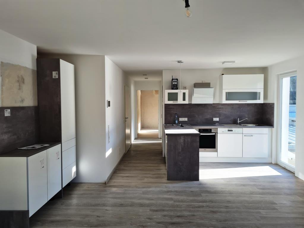 Küche und Wohnraum