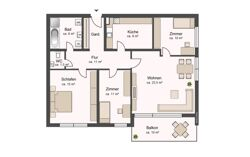 Variante als 4 Zimmer Wohnung