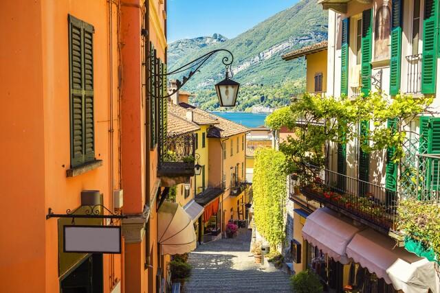 Gassen von Bellagio am Comer See