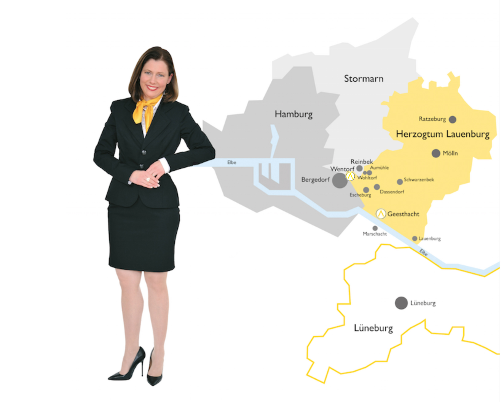 Daniela Rathge mit Map