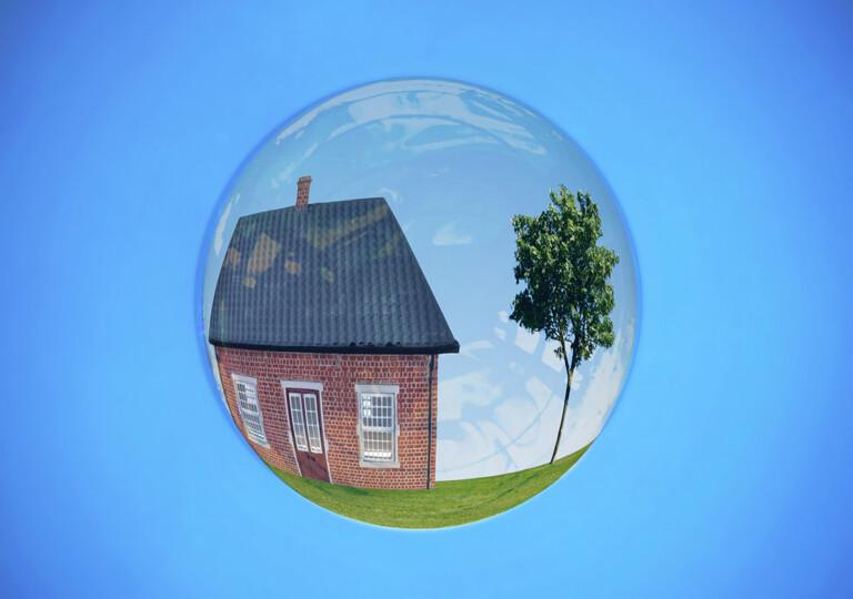 Haus in einer Seifenblase