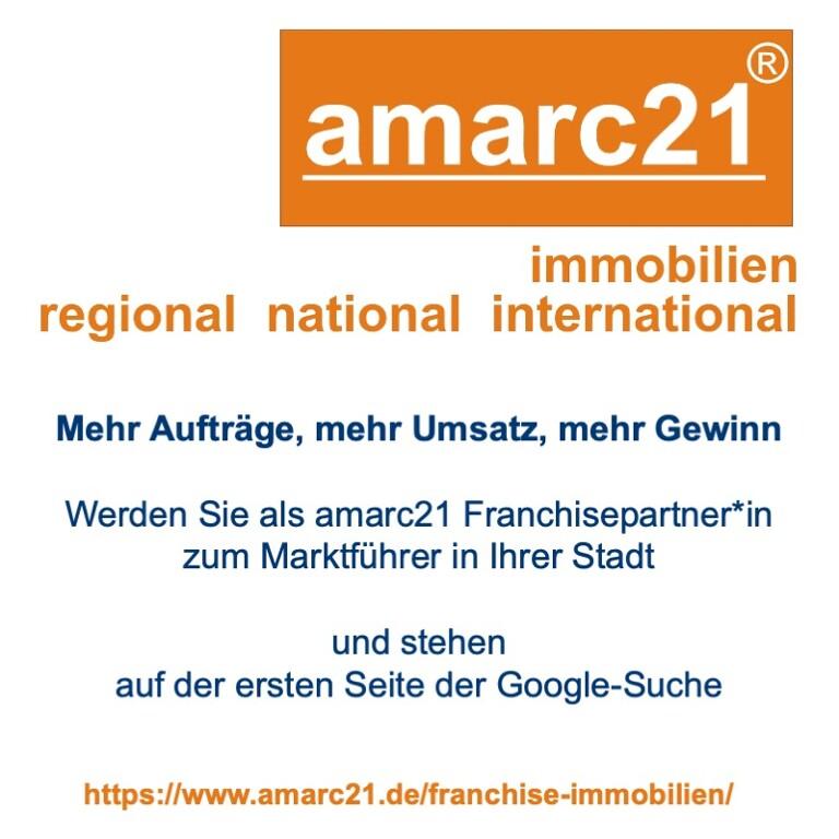 amarc21 Immobilien Franchise für Immobilienmakler