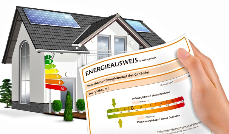Modellhaus mit Energieausweis