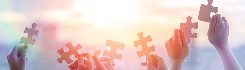Puzzleteile für Kooperation