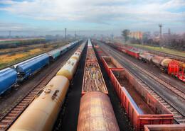 Güterverkehr auf Schienen