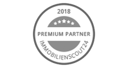 graues Logo Premium Partner 2018 Immobilienscout24