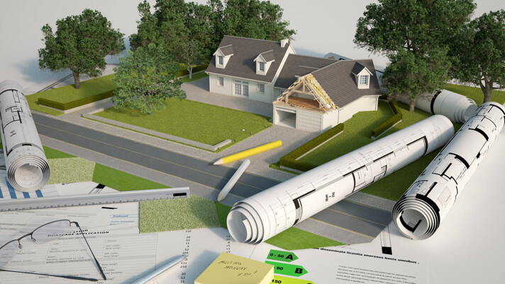 Plan zur Grundstücksbebauung