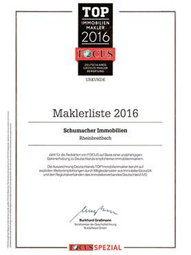Maklerliste 2016
