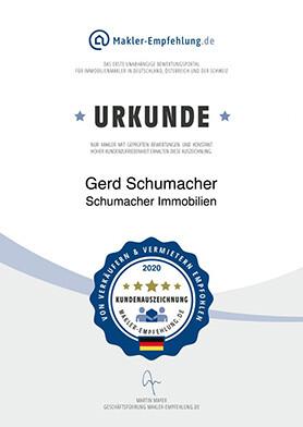 Urkunde Gerd Schumacher