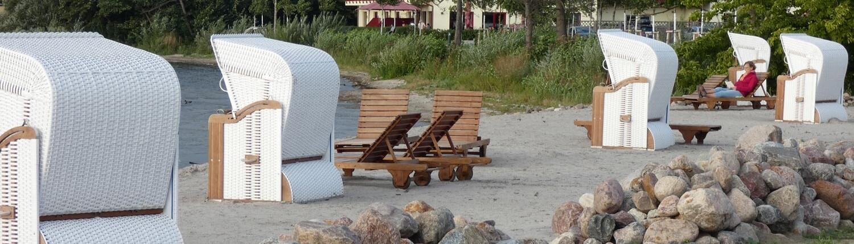 Fehrienimmobilie mit Strandkörben