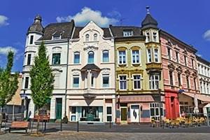 Jugenstil-Fassaden in Mönchengladbach